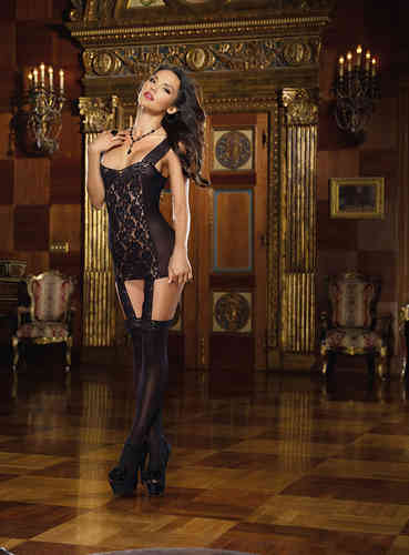 Dreamgirl - Garter Dress 0144 schwarz