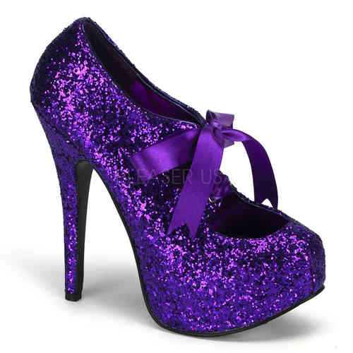 Bordello - Teeze 10G High Heels Purple
