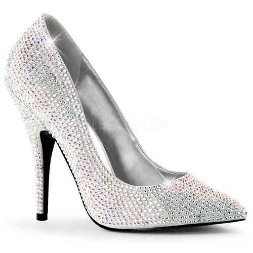 Pleaser - Seduce 420RS Pumps Silver