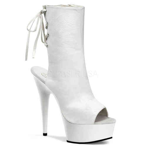 Pleaser Delight 1018 Stiefeletten White