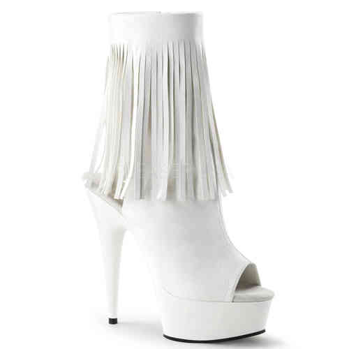 Pleaser Delight 1019 Stiefeletten White