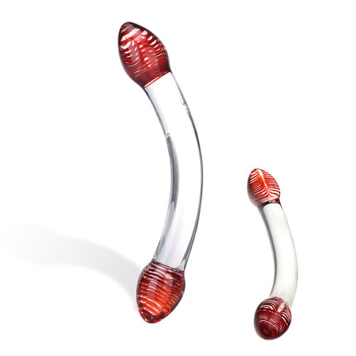 Gläs Red Head Double Glas Dildo