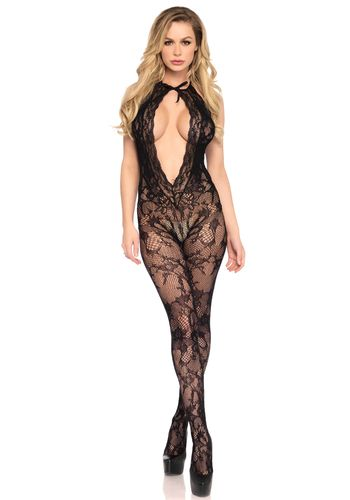 Leg Avenue - Lace keyhole bodystocking