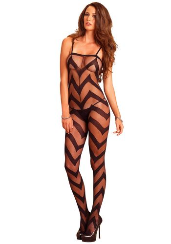 Leg Avenue - Sheer Chevron Bodystocking
