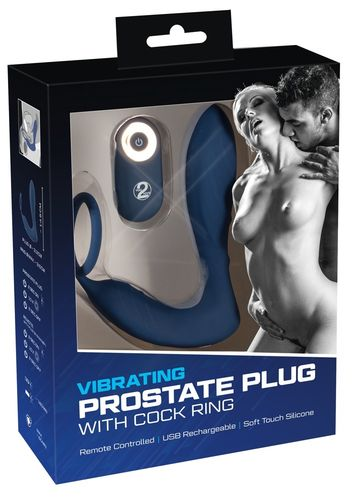 Vibrating Prostate Plug with cockring